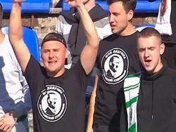 Фанаты украинского клуба пришли на матч в футболках с Гитлером - «Новости дня»