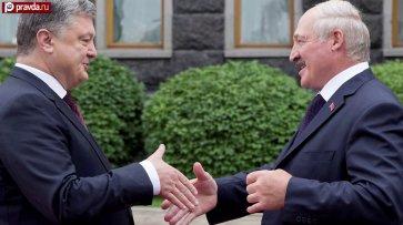 На двух стульях, или как Порошенко с Лукашенко разыгрывают спектакль для Кремля  - (видео)