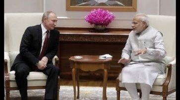 Пресс-конференция Путина и Моди  - (видео)