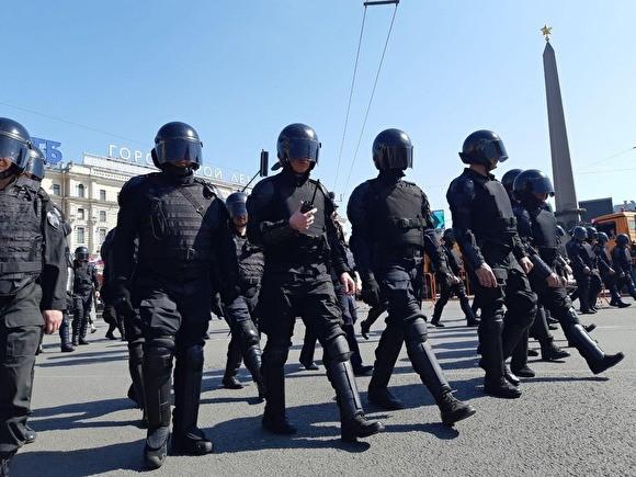 В Петербурге на шествии ОМОН взял в окружение колонну «Объединенных демократов» - «Новости дня»