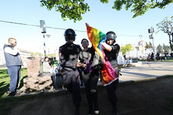 В Петербурге прошла акция в честь дня борьбы с гомофобией. Есть задержанные - «Культура»